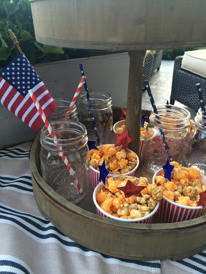 4th of July-food display and popcorn