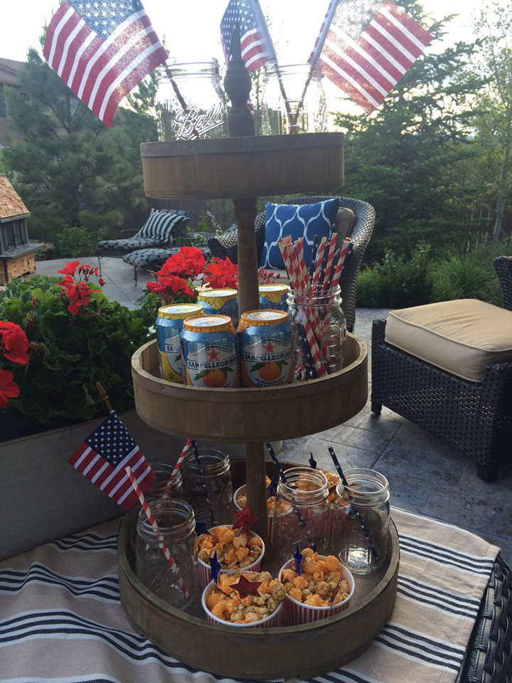 4th of July-three tier tray food display 2