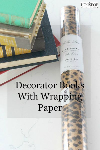 Wrapping Books with Gift Wrap