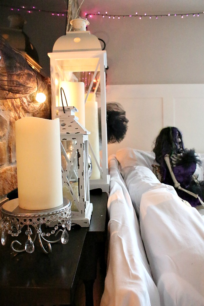 Halloween Decorating with candles