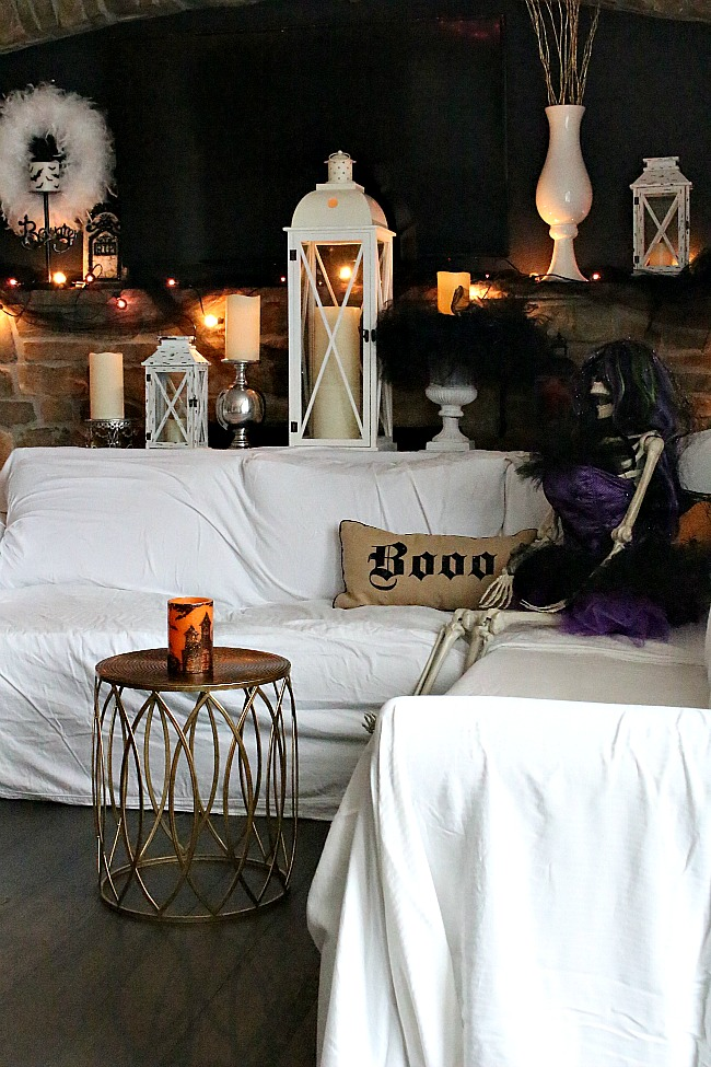 Halloween Decorating with sheets