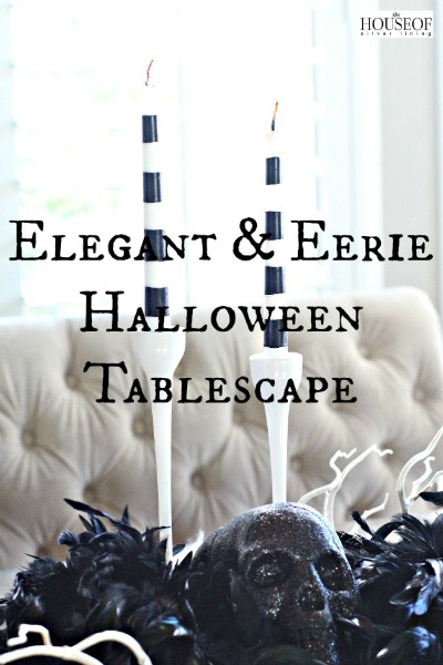 Elegant and Eerie Halloween Tablescape