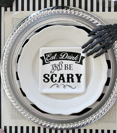 Moody Halloween Table Setting