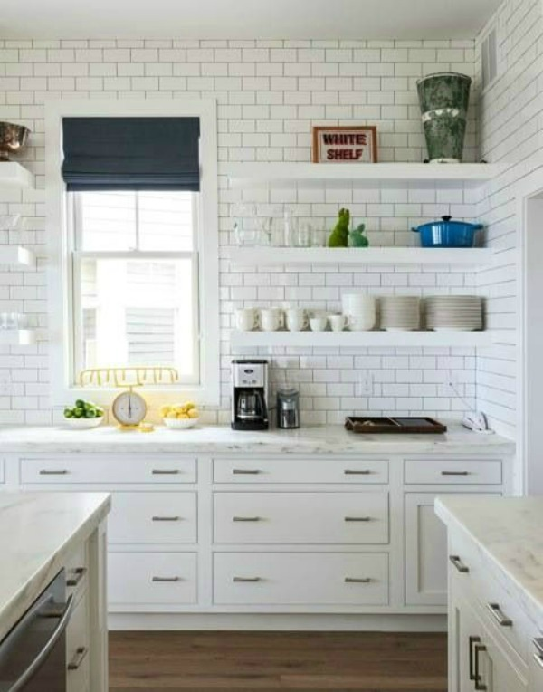Kitchen Tiles Small small kitchen design {beach cottage} - the house of silver lining