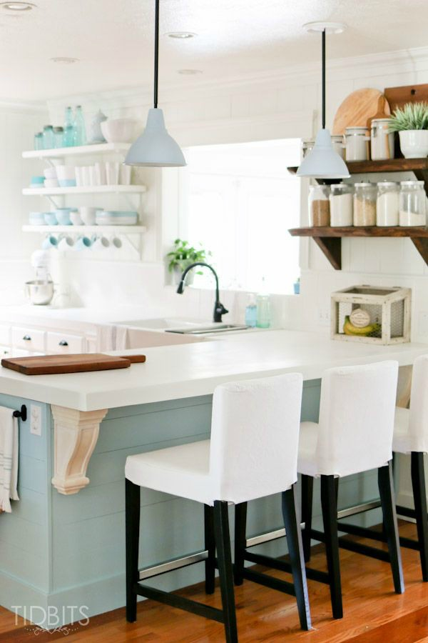 Small kitchen design beach cottage the house of silver lining - Inspired diy ideas small kitchen ...