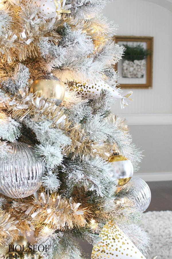 Christmas Tree Gold Tinsel 5