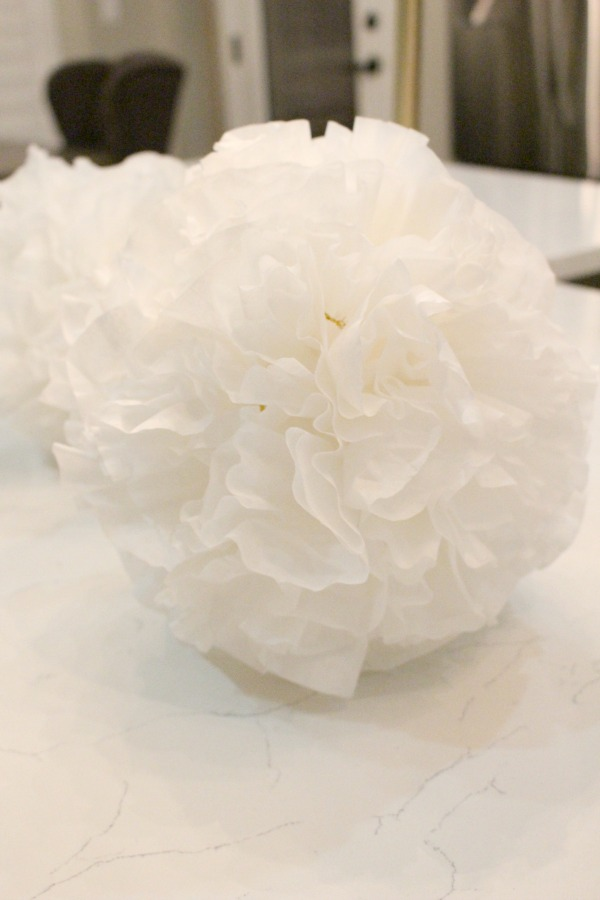 coffee-filter-snowball-ornament