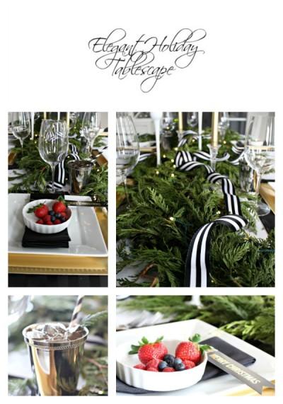 Elegant Holiday Tablescape