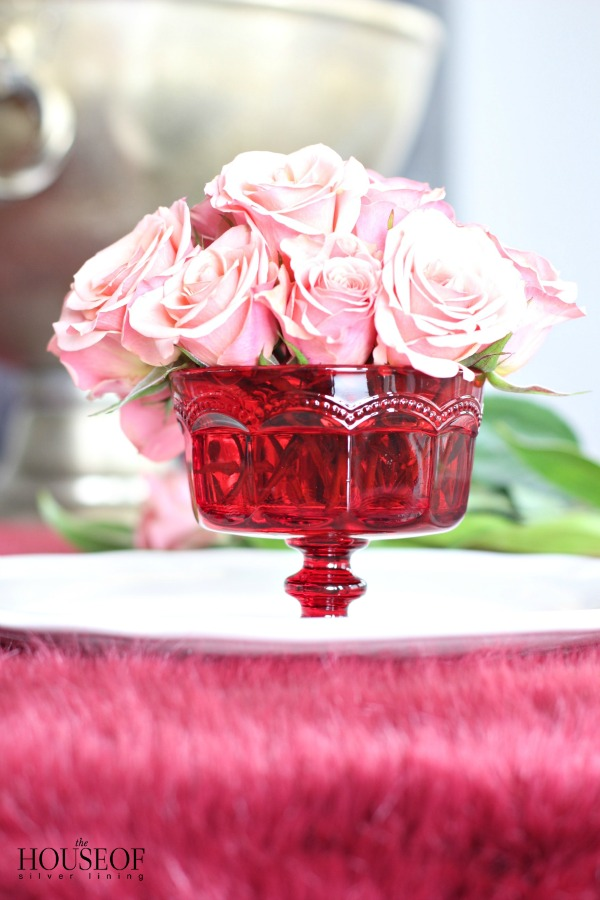 A Simple Valentines Day Floral Arrangement