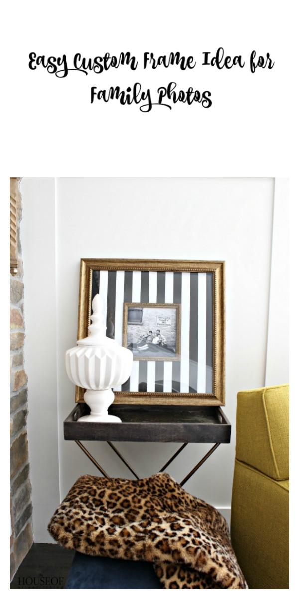 Easy-custom-frame-idea-for-family-photos