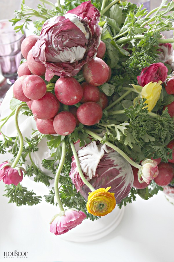 A colorful spring centerpiece the house of silver lining