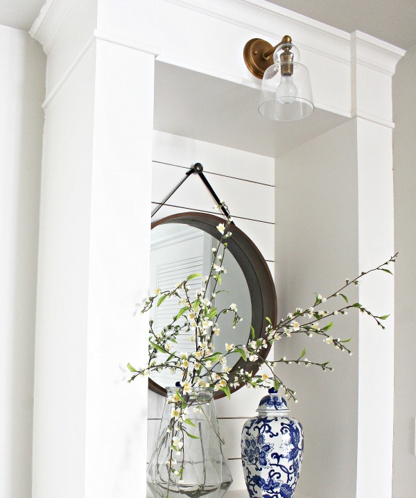 how-to-cover-plumbing-with-crown-moulding-and-built-in-shelves