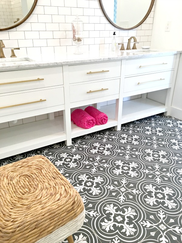 black-and-white-cement-tile-bathroom-makeover