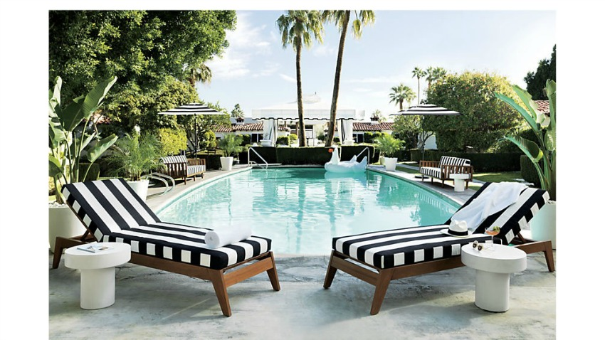 Thinking of Styling The Pool Oasis - The House of Silver ... on Black And White Patio Ideas id=79972