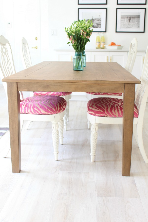 pink-zebra-fabric-dining-chairs