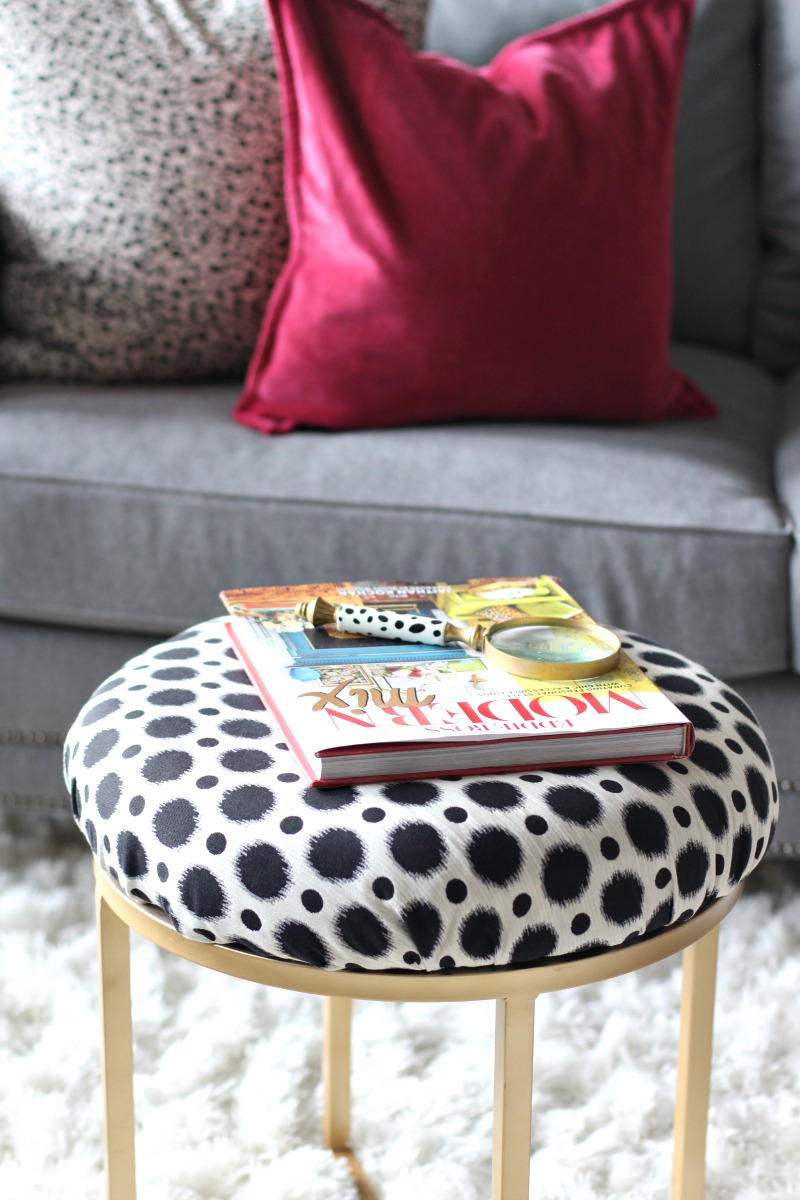 black-and-white-spotted-brass-ottoman