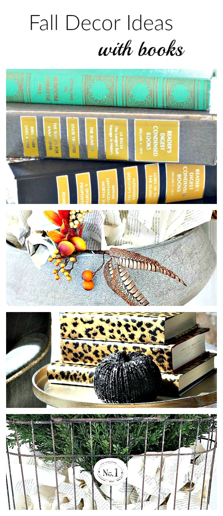 Fall decor ideas with books the house of silver lining for Home design ideas book