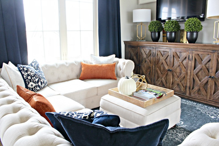 modern-fall-home-tour-with-navy-and-orange