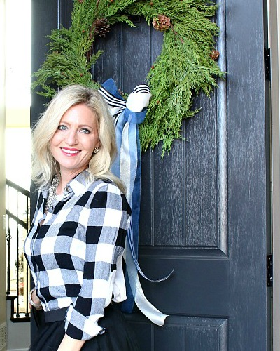 Welcome Home: Christmas Front Door & Entry
