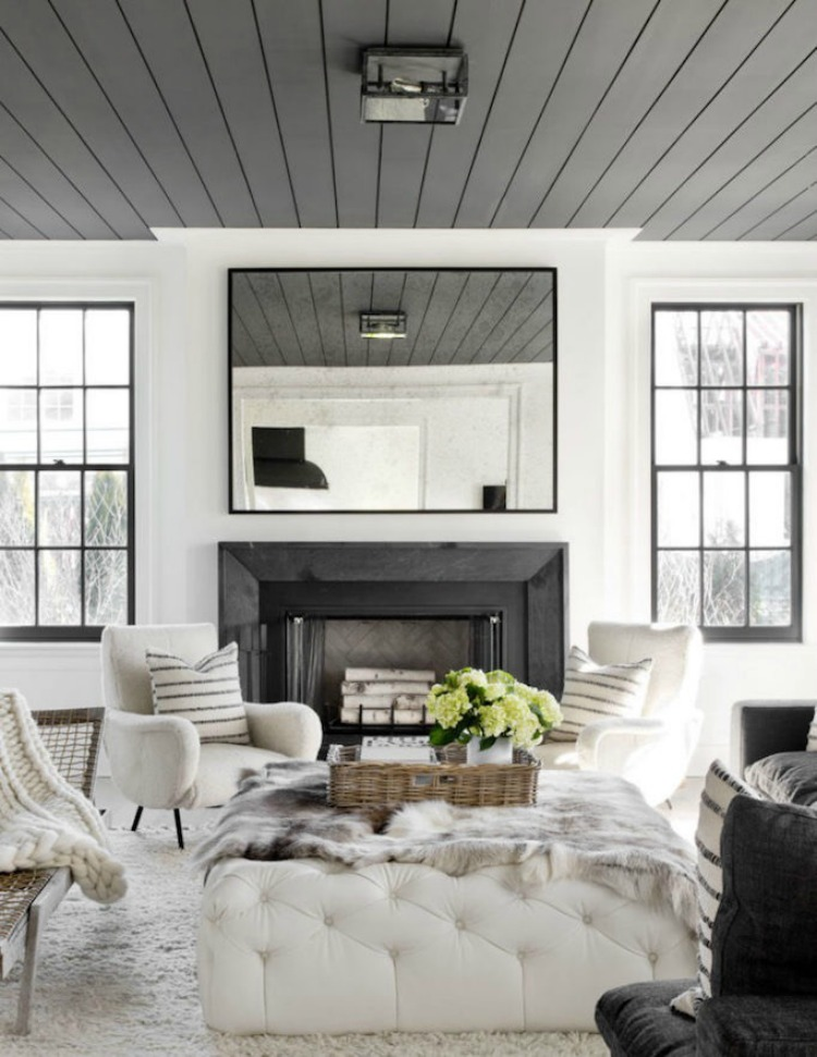 black-shiplap-ceiling