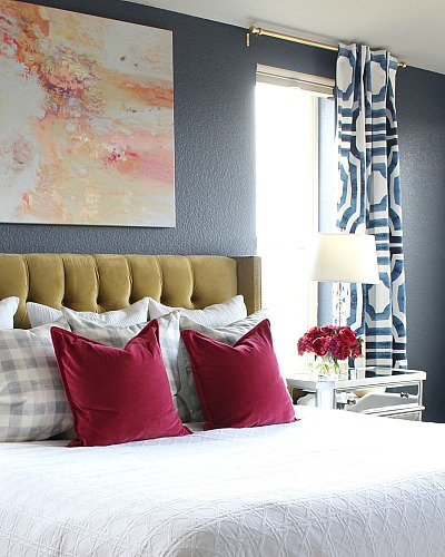 Bold, Beautiful, & Glamorous Master Bedroom