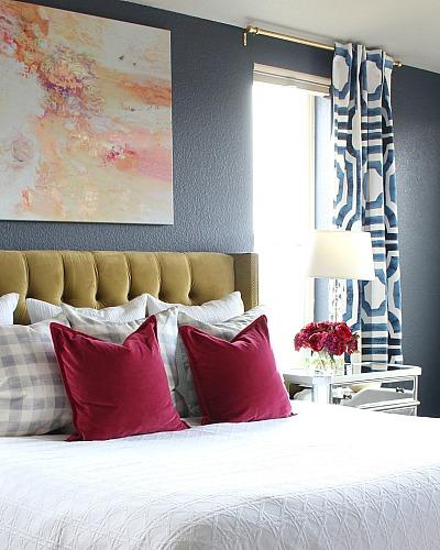 Bold, Beautiful, & Glamorous Master Bedroom