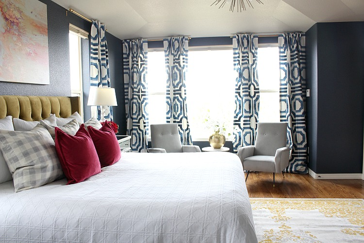 Bold, Beautiful, & Glamorous Master Bedroom - The House of