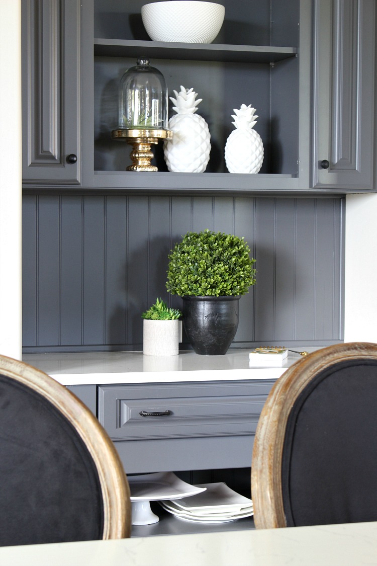 My favorite dark gray paint for kitchen cabinets the for Dark gray kitchen cabinets