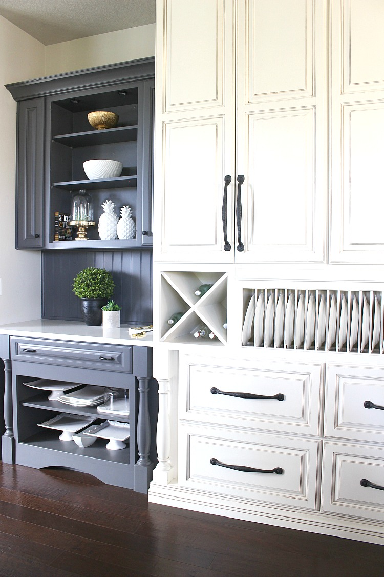 My favorite dark gray paint for kitchen cabinets the for Charcoal painted kitchen cabinets