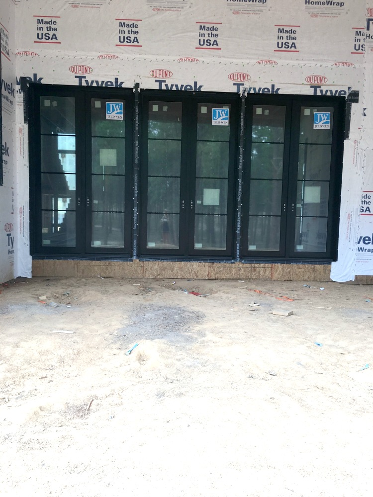 Our new exterior doors at The Forest Modern