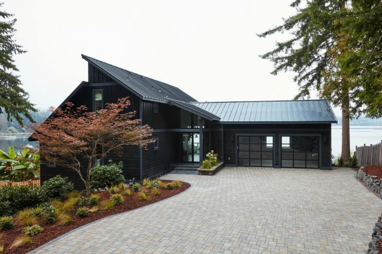 The Forest Modern: Exterior Paint and Stone - The House of Silver Lining