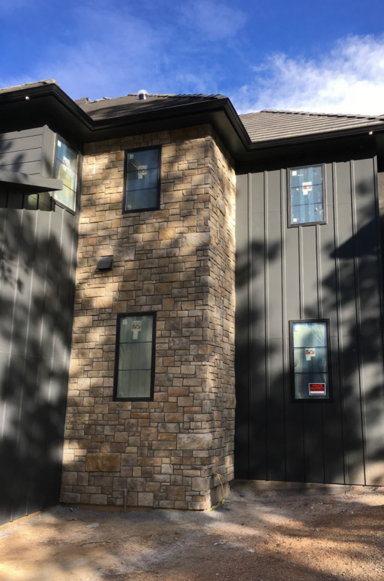 The Forest Modern Exterior Paint And Stone The House Of