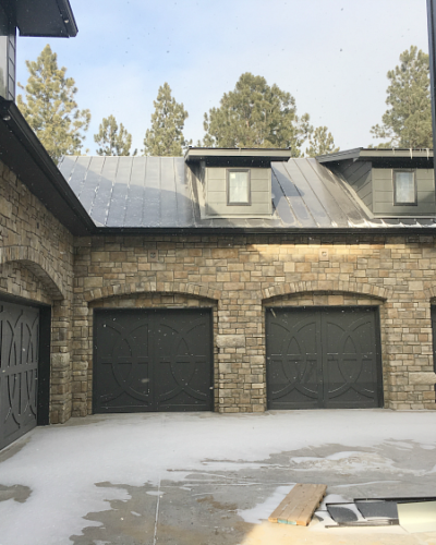 The Forest Modern: Exterior Paint and Stone