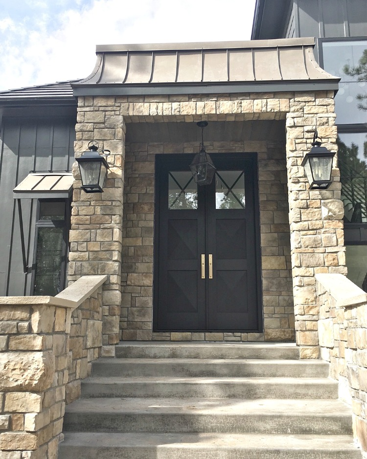 the-forest-modern-custom-front-entry-doors-with-pyramid-pattern-modern-chateau