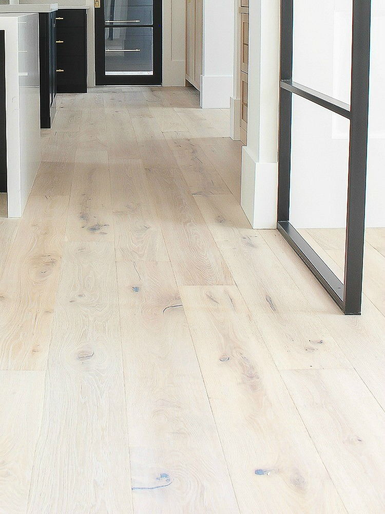 Aged french white european oak hardwood floors