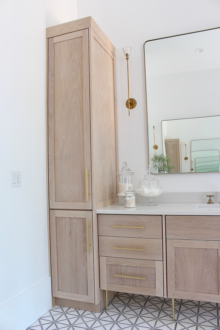 exciting master bathroom white cabinets | The Forest Modern: Modern Vintage Master Bathroom Reveal ...