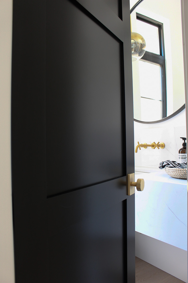 tricorn black interior door