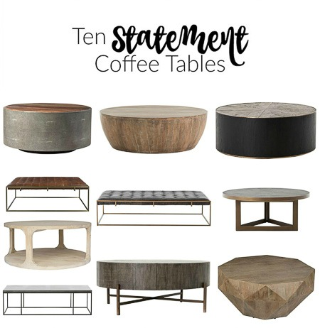 The Forest Modern: First Look at Our Hearth Room + Ten Statement Coffee Tables