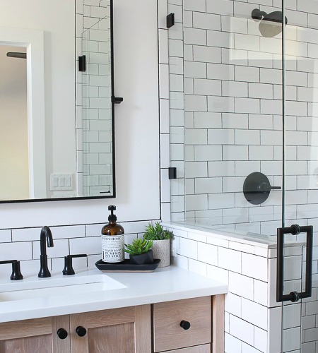 A Clic White Subway Tile Bathroom