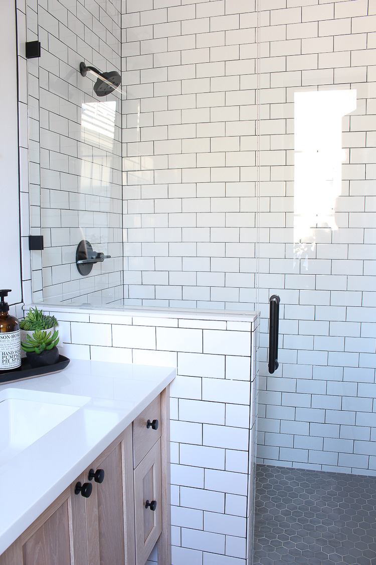A Classic White Subway Tile Bathroom Designed By Our Teenage Son ...