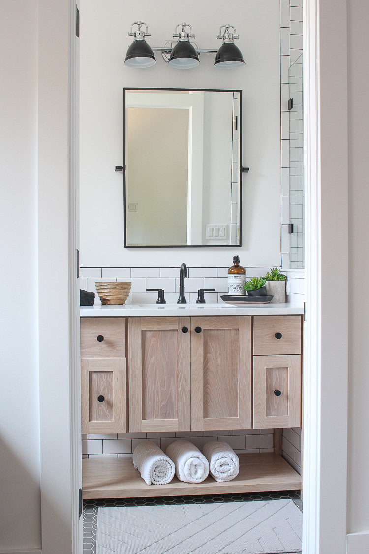 A Classic White Subway Tile Bathroom Designed By Our Teenage Son