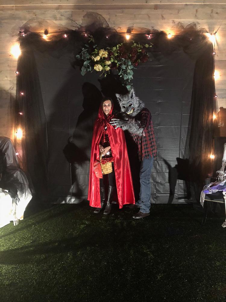 halloween photo backdrop creepy elegant