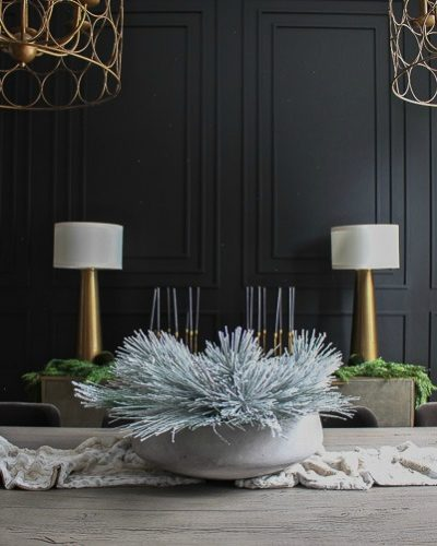 Our Bold Black Dining Room Reveal, Styled For Christmas