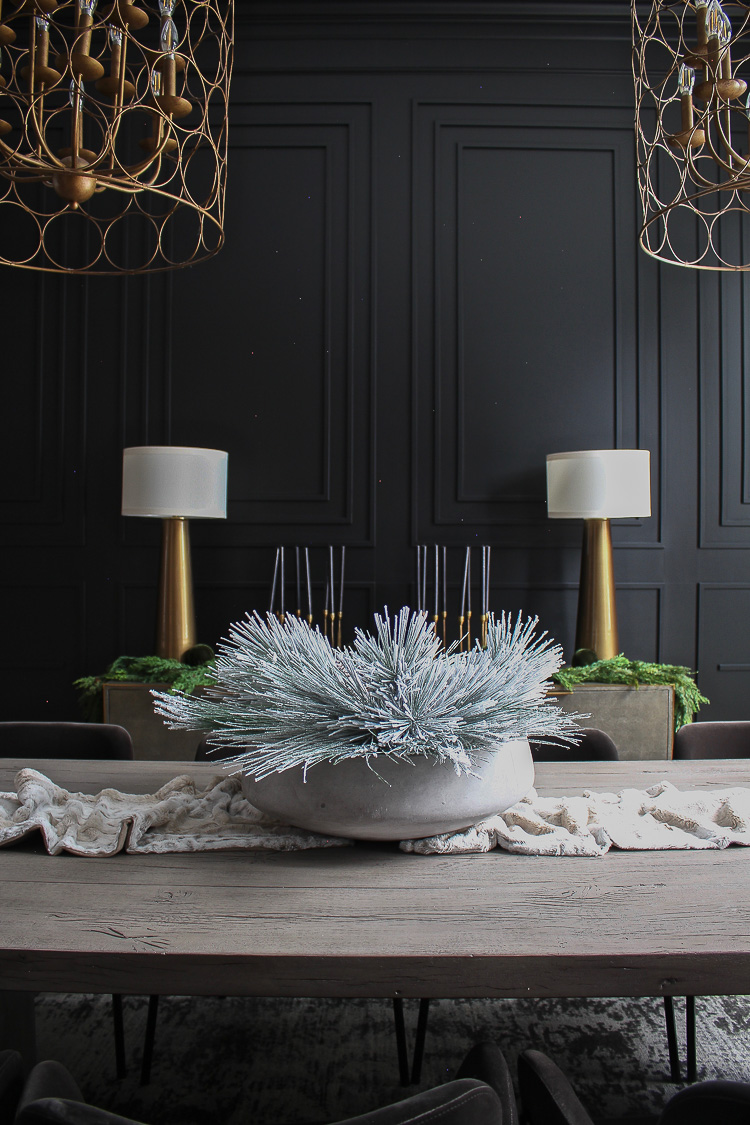 Our Bold Black Dining Room Reveal Styled For Christmas The House Of Silver Lining