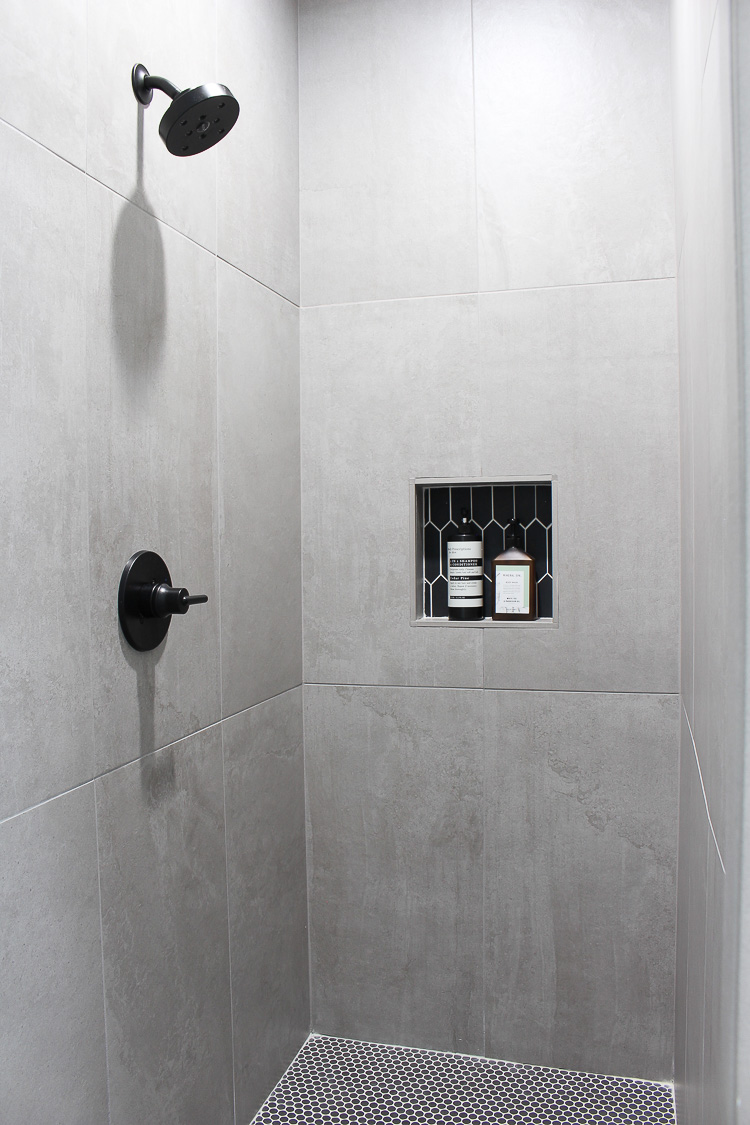 concrete wall shower