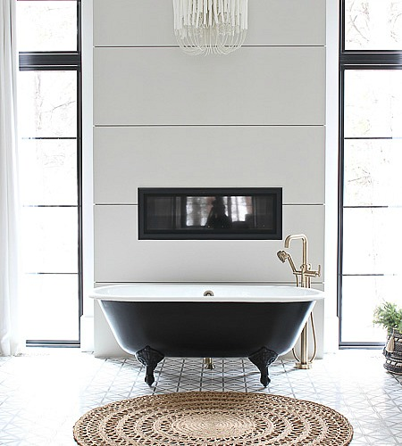 Organically Styled Master Bathroom With Drew Barrymore Flower Home