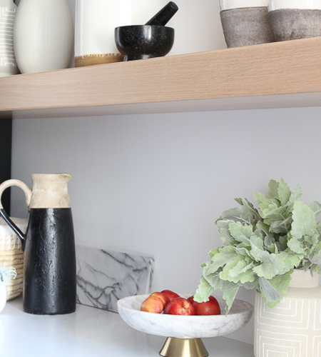 Butler's Pantry Open Shelf Styling: 3 Simple Tips To An Organic Styling Approach