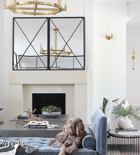 Living Room Progress, Styled for Summer