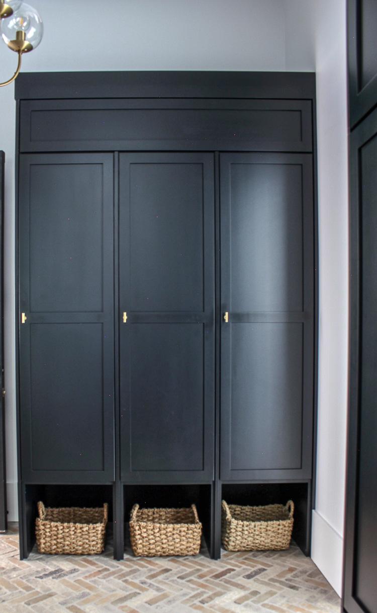 Strange Our Black Mudroom With Brick Herringbone Floors The House Interior Design Ideas Clesiryabchikinfo