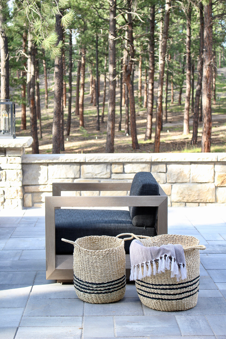 Contemporary outdoor living space with cozy vibe
